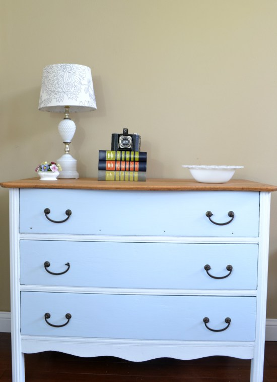 white-and-turquoise-painted-dresser-with-natural-wood-top (1)