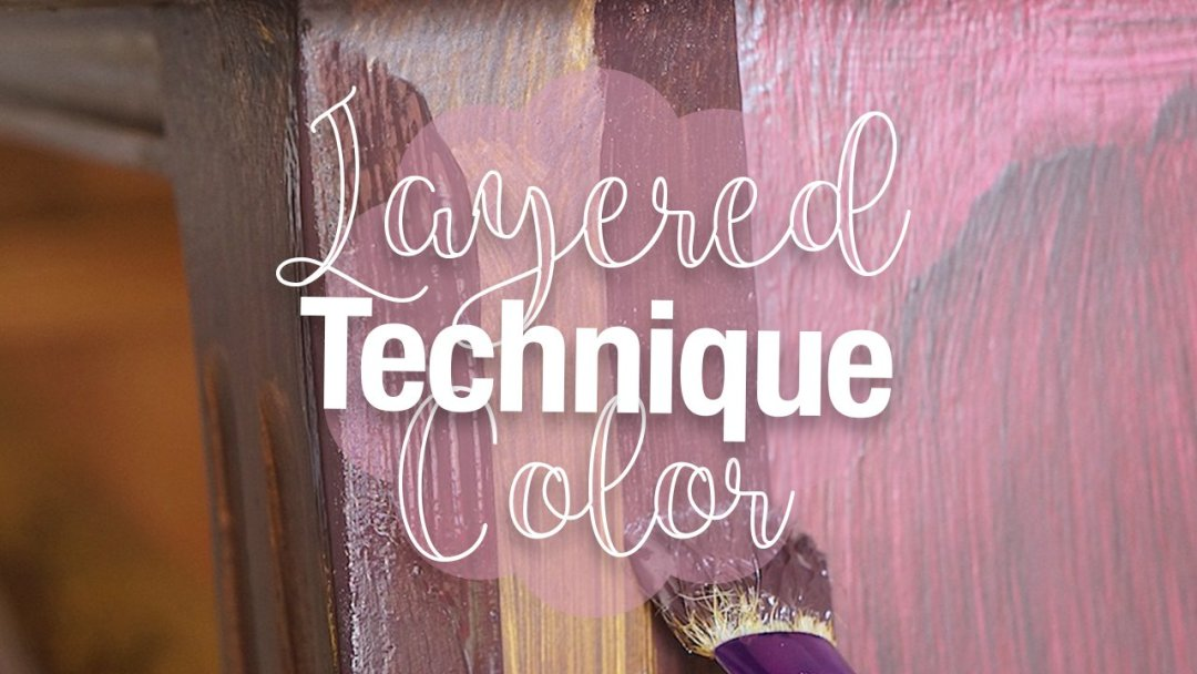 using a layered color technique for distressed furniture