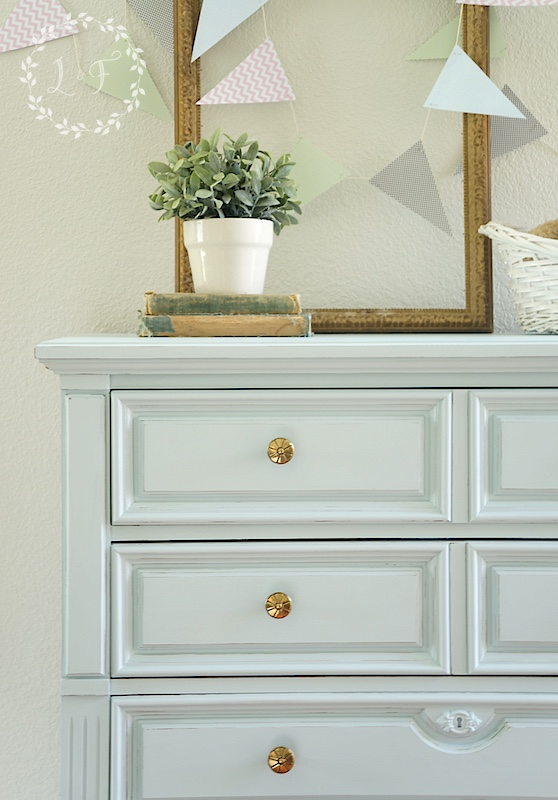 Little Whale tones for tots painted chest of drawers
