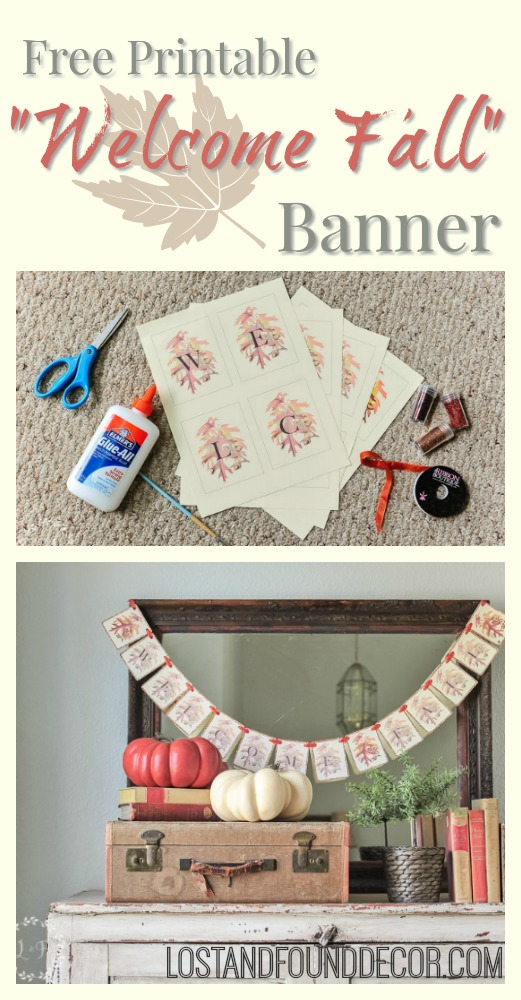photograph about Fall Banner Printable referred to as 5 Stage Drop Banner No cost Printable