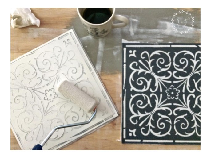 Diy High End Patterned Tile Backsplash Look With Peel Amp Stick Tile