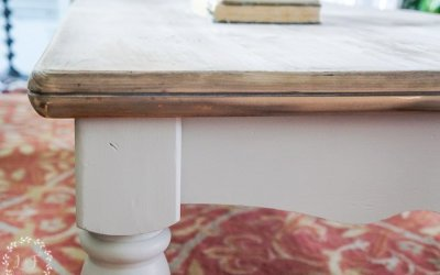 Pine Coffee Table Makeover | Farmhouse Style