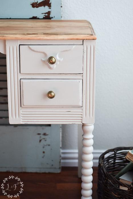 White Antique Desk