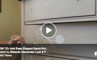 VIDEO DEMO: How to Add Easy Elegant Hand-Painted Designs On Your Furniture Piece