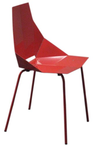 real good chair futon cover red metal with perforated folds lost and found
