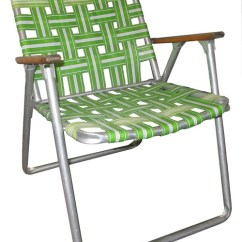 Folding Chair Nylon Replacement Office Wheels Lawn With Green Straps And Wood Armrests Lost Found