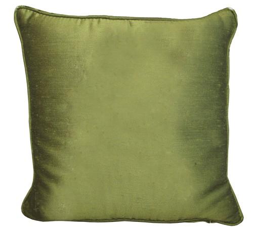 silk avocado green pillow