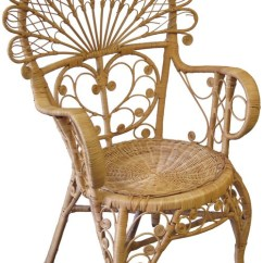 Rattan Peacock Chair Reindeer Christmas Covers Ornate Natural Bk Lost And Found