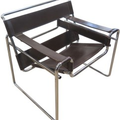 Wassily Chair Brown Leather Wedding Cover Hire Perthshire Vintage Marcel Breuer Dark And Chrome Frame Bk Lost Found