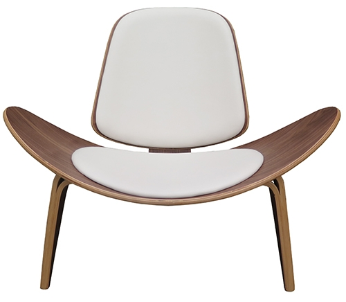 shell chair replica bedroom with hanger hans wegner white leather wood lost and found