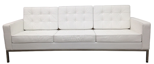 white tufted leather sofa warehouse uk in the style of florence knoll bk lost and found