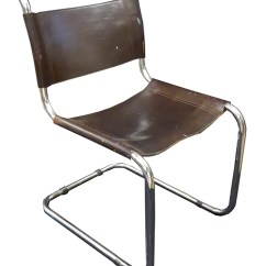 Leather Chrome Chair Office Best Marcel Breuer Tubular With Brown Seat Backrest Lost And Found