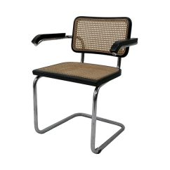 Marcel Breuer Cesca Chair With Armrests Teal Accent Vintage Style Bk Lost And Found N 43838