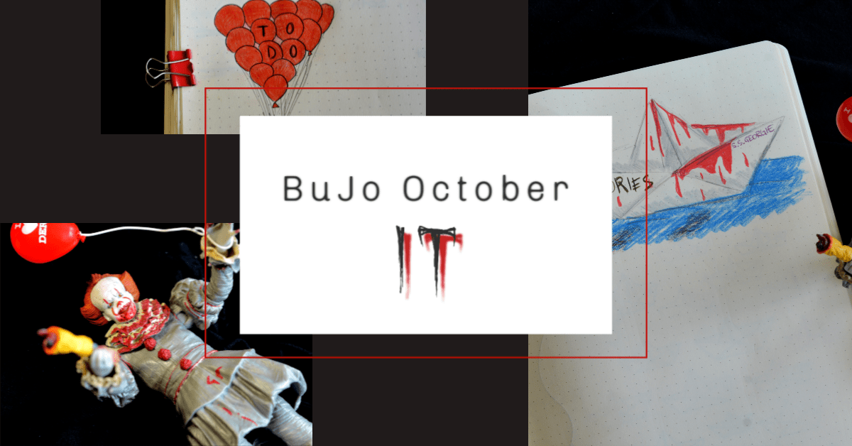 Bullet Journal Oktober – We All Float Down Here – Pennywise von ES