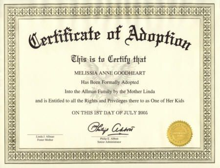 Fake Adoption Certificate Free
