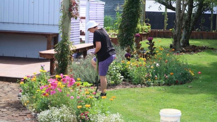 Jen Morris You Tuber Gardening in Taranaki