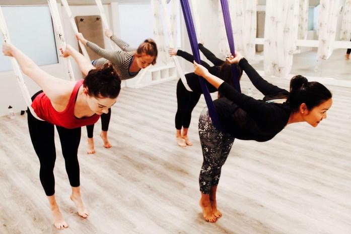 Elina Elinamaste Aero Yoga Teaching