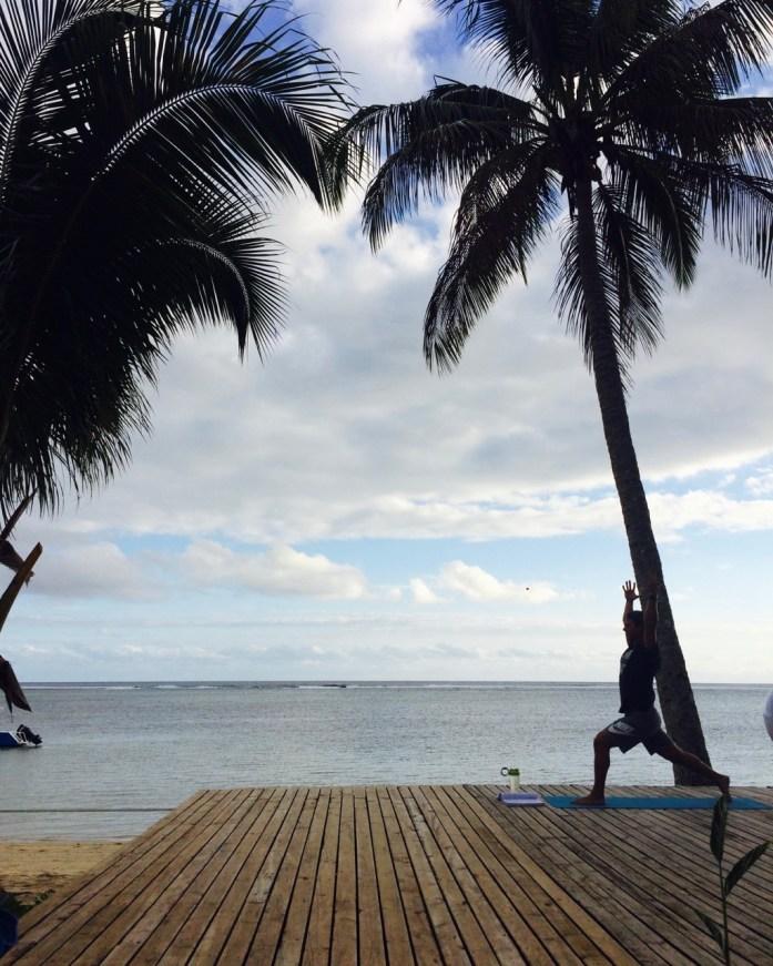 Yoga at Fiji Beach house