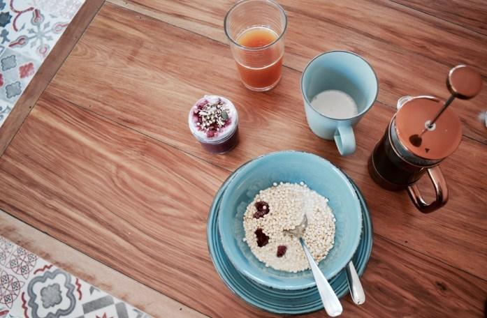Breakfast at Eco Villa Christchurch