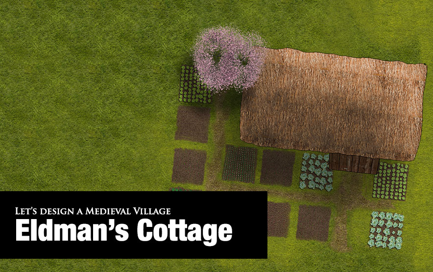 Medieval village buildings: Cottager's cottage