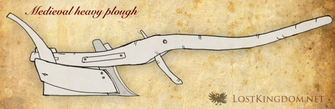 Medieval tools: Medieval Heavy plough / Mouldboard plough
