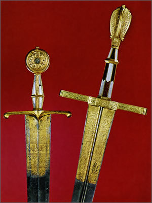 Ornate sword of King Maximilian I