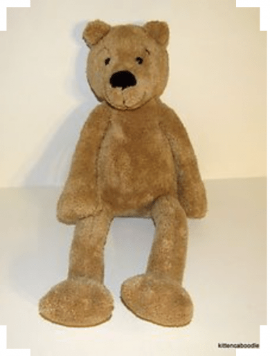 Red Feet Teddy Body Stomach Brown And Arms Eyes Yellow Knickerbockers Ears And