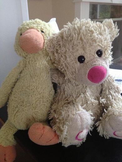 Lost Very Loved Stuffed Yellow DuckyDark Brown monkey