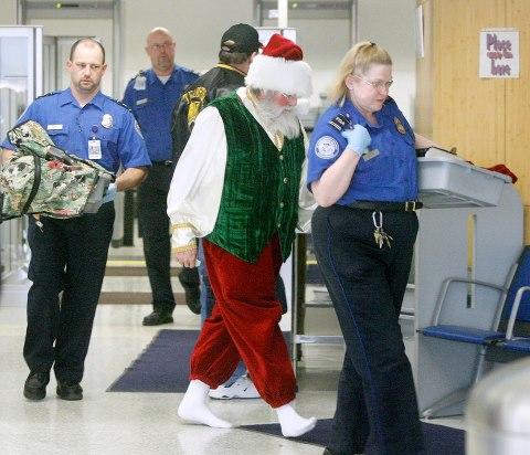 TSA detaining Santa