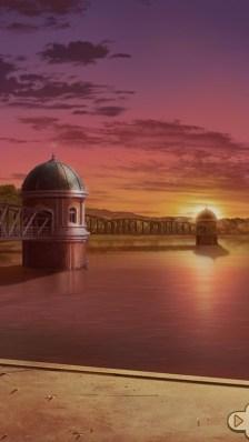 堤体北側から見た多摩湖の取水塔