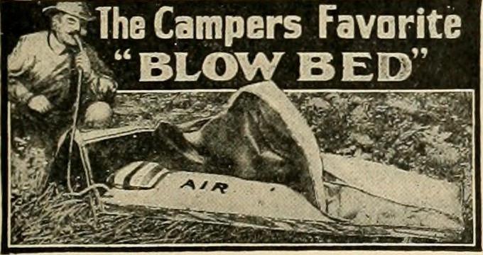 campers blow bed