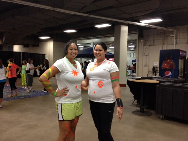 My sister and I at Fitness Day