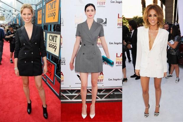 vestidos cortos con blazer