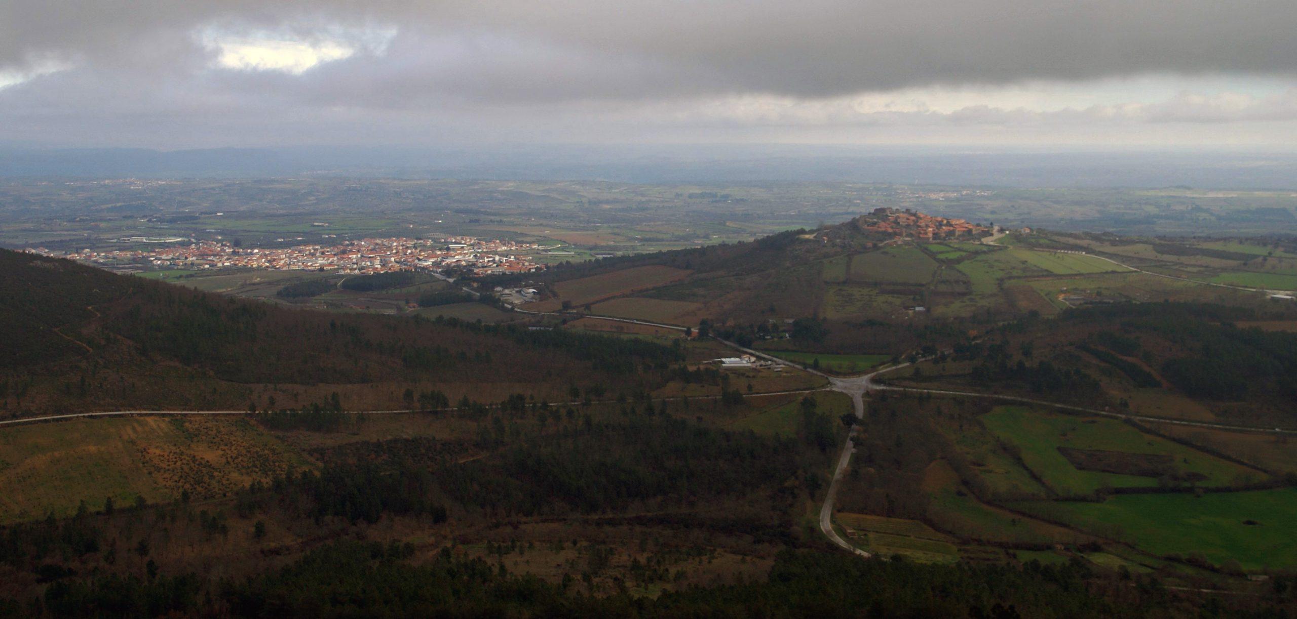 Vista de Castelo Rodrigo desde el Mirador de Cristo Rey de la sierra de la Marofa
