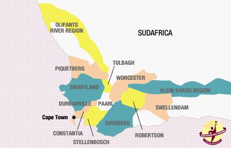 Resultado de imagen de mapa de vino de sudafrica