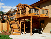 Custom Deck with Overhead Pergola