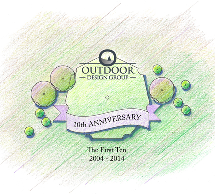 Outdoor Design Group 10th Anniversary Graphic