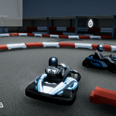 virtual interactive karting simulator