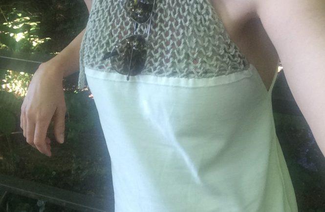 LOTILDA Kleid mit Strickeinsatz