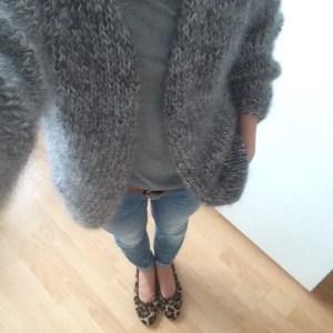 LOTILDA Oversize Mohair Cardigan aus LANA GROSSA Silkhair
