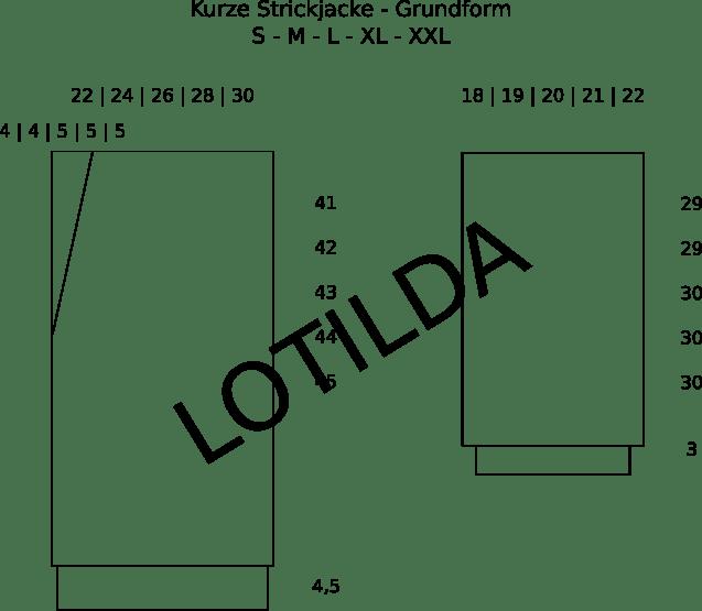 Anleitung Kurze Strickjacke im Halbpatent | S M L XL XXL