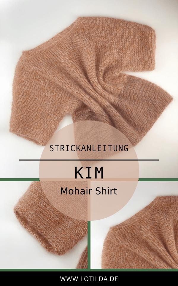 Strickanleitung - KIM Kurzarm Mohair Shirt stricken