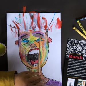 LoLA Hair-Raising Halloween art project inspired by Munch