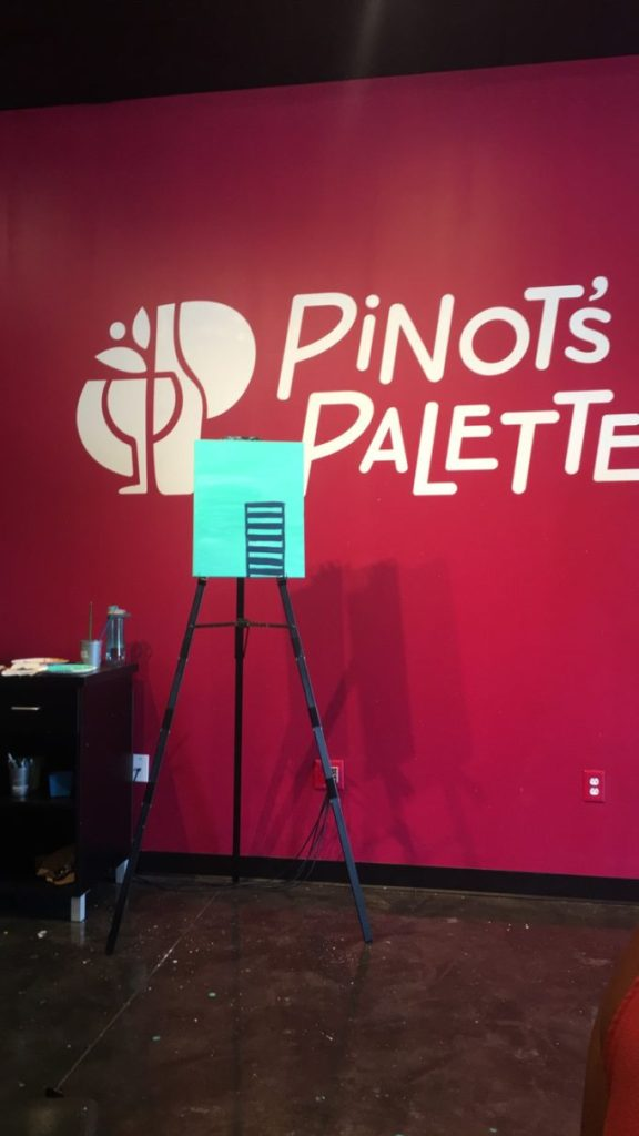 Ladies Paint Night at Pinot's Palette in Apex, North Carolina