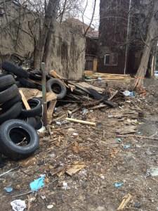 Dumpsite within the city