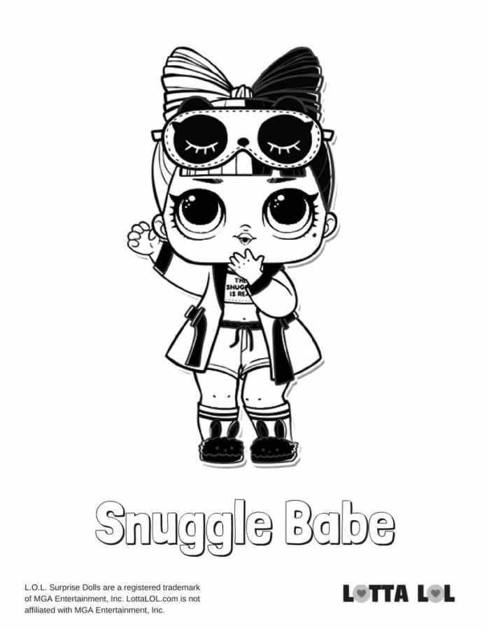 Snuggle Babe LOL Coloring Page