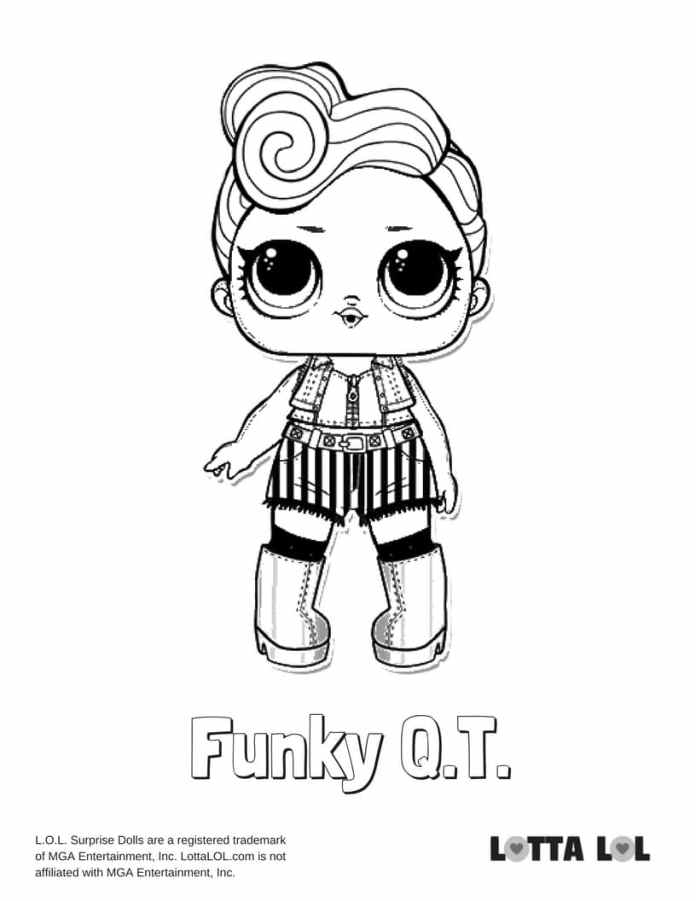 Funky QT LOL Coloring Page Lotta