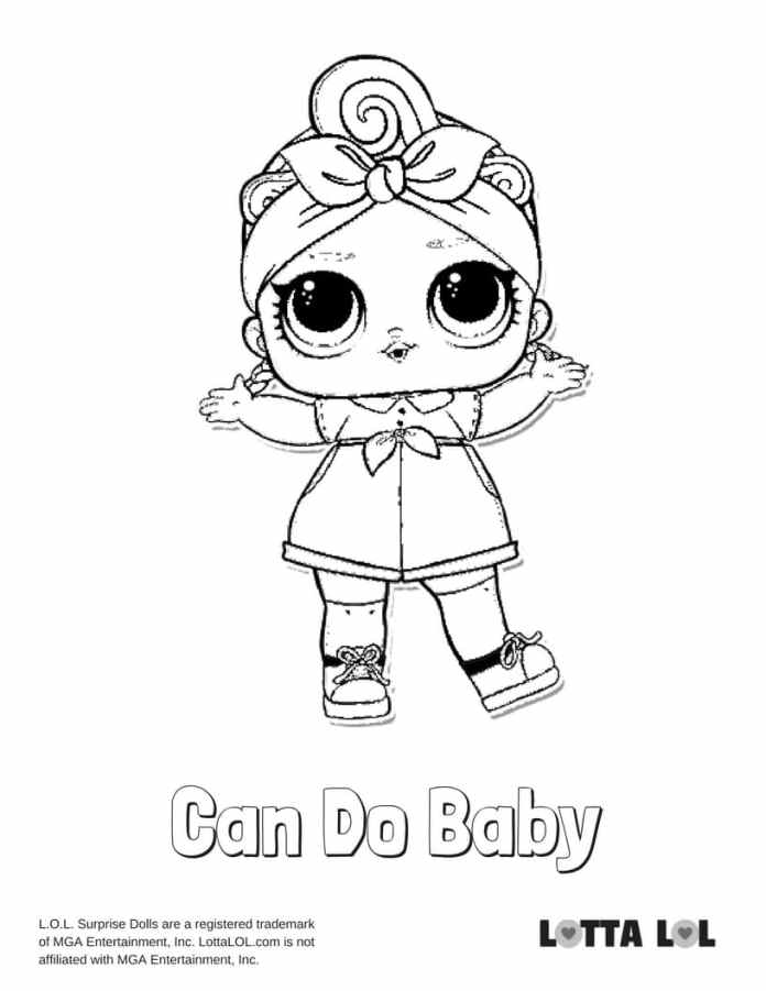 Can Do Baby LOL Coloring Page | Lotta LOL