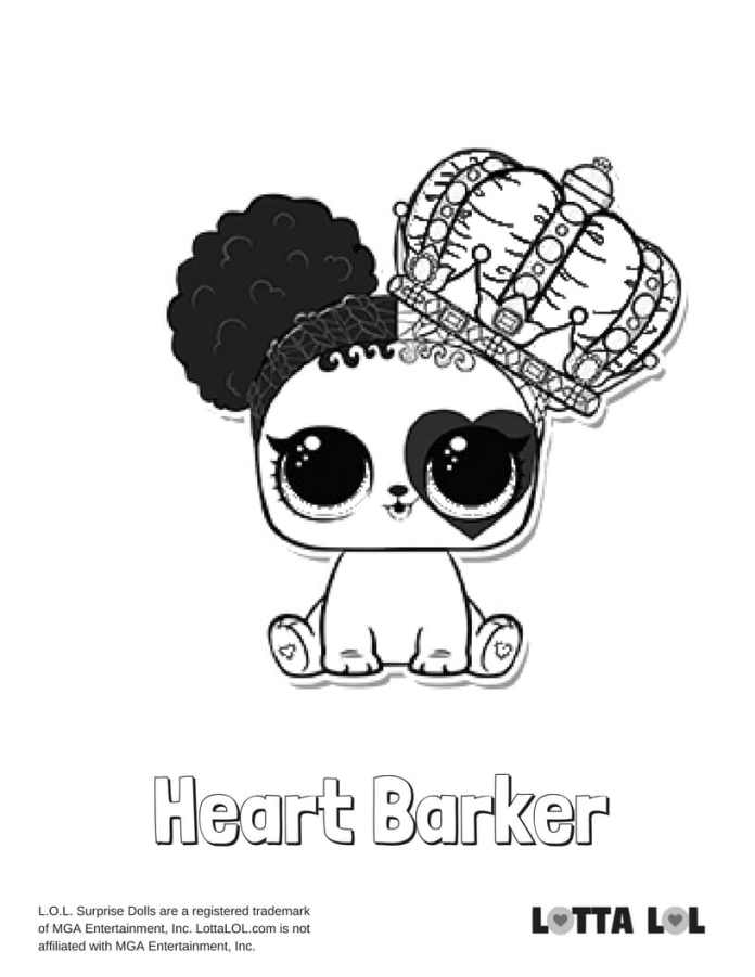 Heart Barker LOL Coloring Page