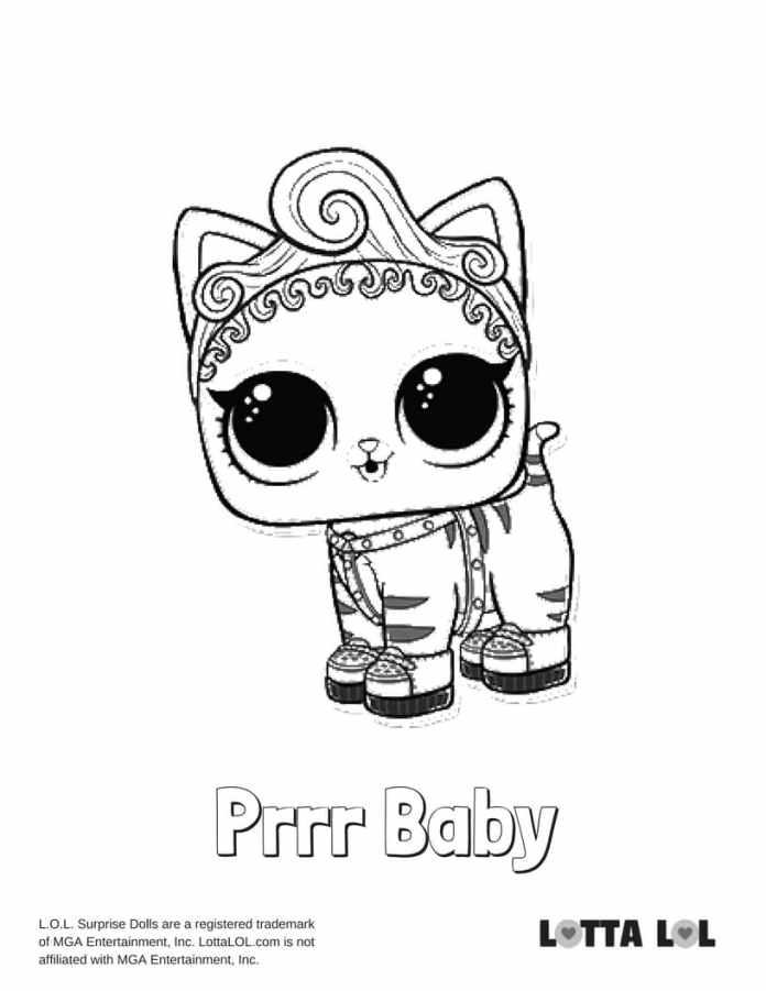 purrr baby lol coloring page